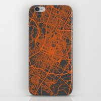 austin iPhone & iPod Skins featuring Austin map by Map Map Maps