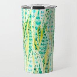 green snake plant pattern Travel Mug