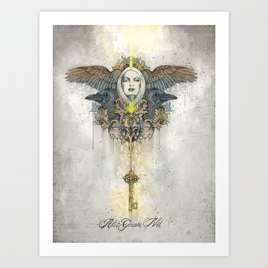 Alis grave nil - Nothing is heavy to those who have wings Art Print