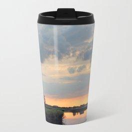 Sunset at horsey mere Travel Mug
