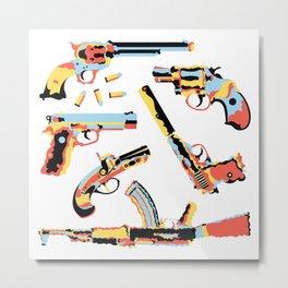 CMYK Guns Metal Print