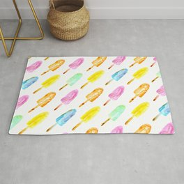 Watercolor popsicles Rug