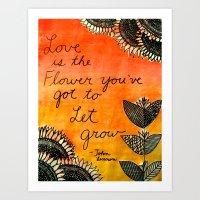 Love is a Flower Art Print