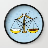 libra Wall Clocks featuring Libra by Giuseppe Lentini