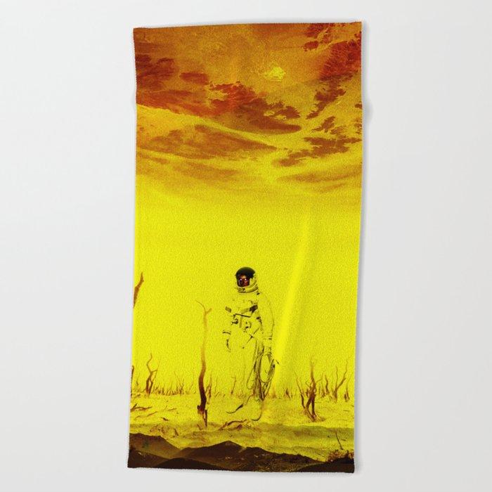 It is too late - Astronaut Beach Towel