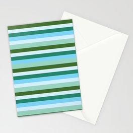 Mint Stripes Stationery Cards