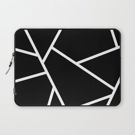 Black and White Fragments - Geometric Design II Laptop Sleeve