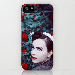 A rose in the roses iPhone Case