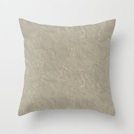 Beige Rough Plastering Texture Throw Pillow