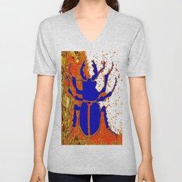 Blue Staghorn Beetle Unisex V-Neck