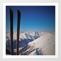 ski Art Prints featuring ski by ViiGlory
