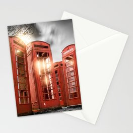 Red Phone Box - Art 2 Stationery Cards