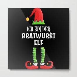 Bratwurst Elf Partnerlook Weihnachten Metal Print