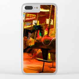 Midnight Carousel Ride Clear iPhone Case