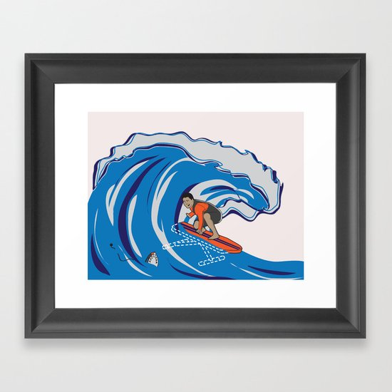 Pressing Waves Framed Art Print