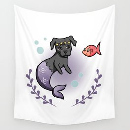 Mermaid Pit Bull 2 Wall Tapestry
