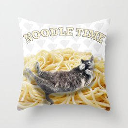Noodle Time Throw Pillow