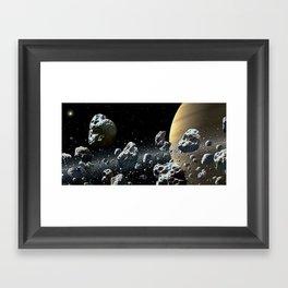Within Saturn's Rings Framed Art Print