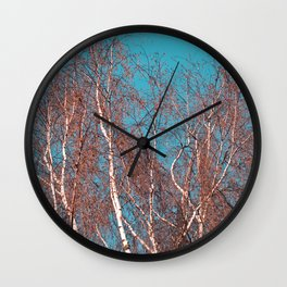 BIRCH in the AUTUMN Wall Clock