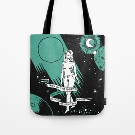 When you close your eyes Tote Bag