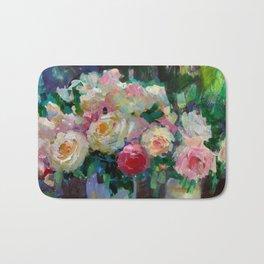 Garden Roses Bath Mat