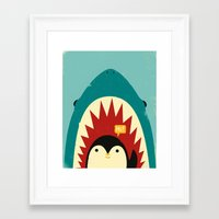 strong Framed Art Prints featuring Hi! by Jay Fleck
