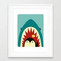 penguin Framed Art Prints featuring Hi! by Jay Fleck