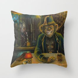 Lester Dines At The Mai Kai Throw Pillow
