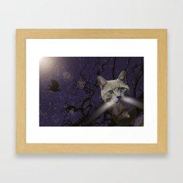 Skat Cat Framed Art Print