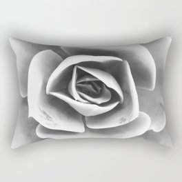 Succulent Photo | Black and White Rectangular Pillow