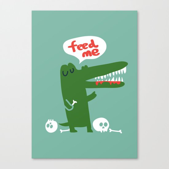 Hungry Hungry Alligator Canvas Print