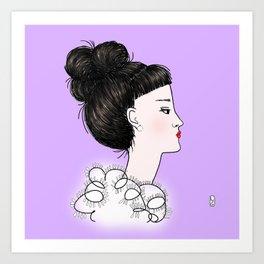 cuty violet Art Print