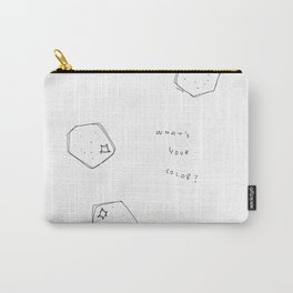 Tell Me - fruit illustration inspirational quote typography Carry-All Pouch