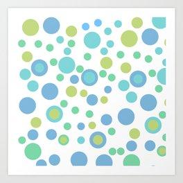 Circular Pastel Vector Art Print