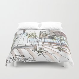 First Baptist Dallas Duvet Cover