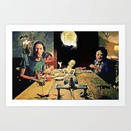 The Dinner Scene Art Print
