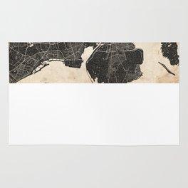 copenhagen map ink lines 2 Rug
