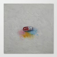 happiness Canvas Prints featuring Happiness by Michael Creese
