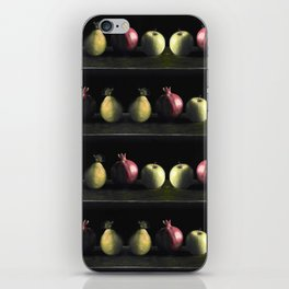 Holiday Fruit Stripes Photographic Pattern #1 iPhone Skin