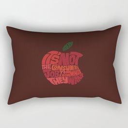 Steve Jobs on Consumers Rectangular Pillow