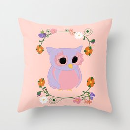 Owl Watch Over You Throw Pillow