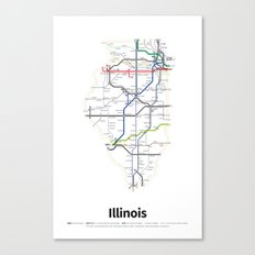 Highways of the USA – Illinois Canvas Print