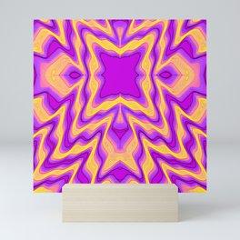 yellow purple Mini Art Print