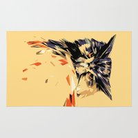 owl Area & Throw Rugs featuring Owl by Nuam
