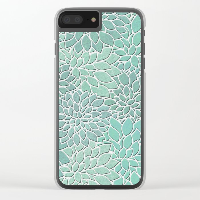 Floral Abstract 28 Clear iPhone Case