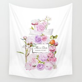 Parfum Perfume Fashion Floral Flowers Blooming Bouquet Wall Tapestry