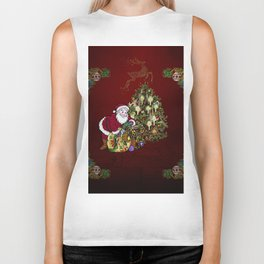 Christmas, Santa Claus Biker Tank