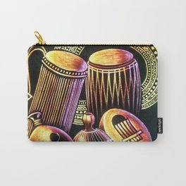 African Musical Instrument Collection Carry-All Pouch