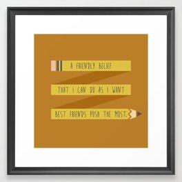 Pencil Push Framed Art Print