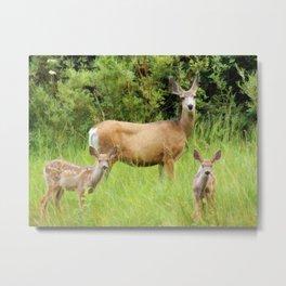 Mama Deer Metal Print
